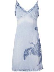 джинсовое платье с вышивкой скорпиона  Walter Van Beirendonck Vintage