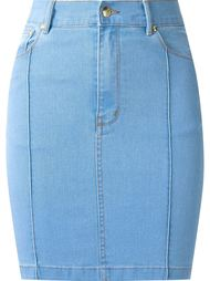 high waist fitted denim skirt Amapô