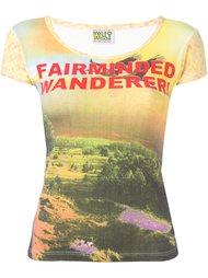 футболка с принтом 'fairminded warrior' Walter Van Beirendonck Vintage