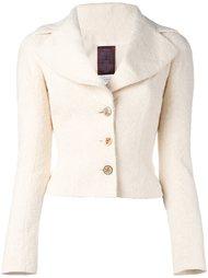 приталенный пиджак букле John Galliano Vintage