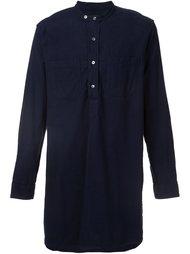 long banded collar shirt Engineered Garments