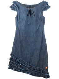 джинсовое платье с рюшами Walter Van Beirendonck Vintage