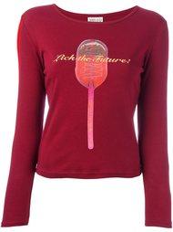 футболка с принтом 'lick the future' Walter Van Beirendonck Vintage