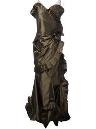 вечернее платье с плиссировкой Christian Dior Vintage