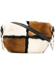 меховая сумка через плечо Salvatore Ferragamo