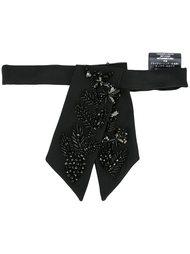 галстук с отделкой стразами и бисером Dsquared2
