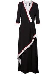 платье с контрастной окантовкой  Kenzo