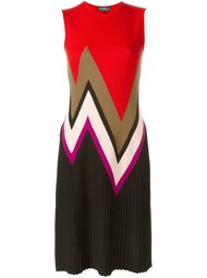 вязаное платье с зигзагами Salvatore Ferragamo