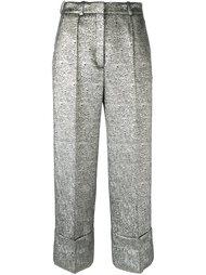 укороченные брюки с эффектом металлик Racil