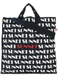 сумка-шоппер с логотипом Sunnei
