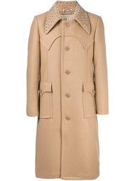 пальто с заклепками на воротнике J.W.Anderson