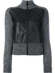 трикотажный пиджак с контрастными панелями Carven