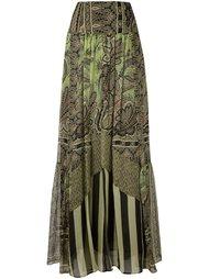 юбка в складку с рисунком Etro