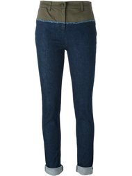 двухцветные джинсы скинни Nº21