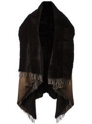 двусторонний широкий шарф с бахромой Avant Toi