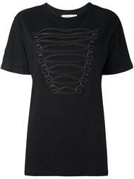 футболка с отделкой молниями Pierre Balmain