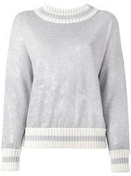 свитер с вощеным покрытием Moncler