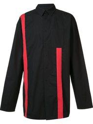 рубашка с контрастными полосками D-Gnak