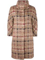 клетчатое пальто на пуговицах Herno