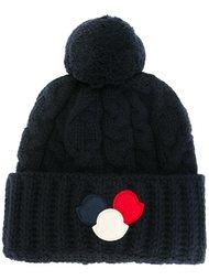 шапка-бини с помопоном  Moncler