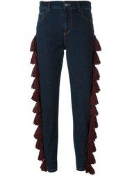 джинсы с кисточками Au Jour Le Jour