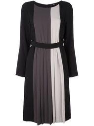 полосатое платье с поясом Steffen Schraut