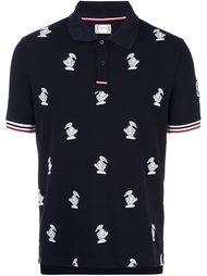 футболка-поло с вышивкой уток Moncler Gamme Bleu