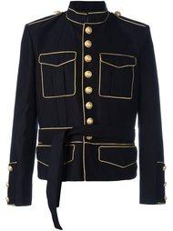 куртка с поясом в стиле милитари Balmain