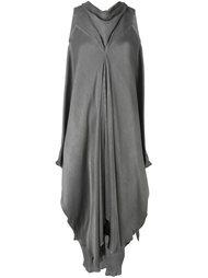 асимметричное платье с драпировкой Masnada