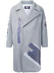 однобортное пальто с принтом General Idea