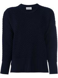 свитер рельефной вязки Moncler