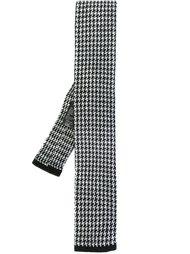трикотажный галстук в ломаную клетку Boss Hugo Boss