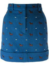 юбка с вышивкой в виде таксы Thom Browne