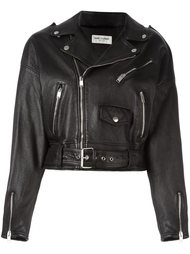 укороченная байкерская куртка Saint Laurent