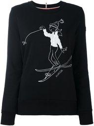 толстовка с вышивкой лыжника Moncler Grenoble