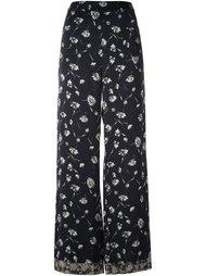широкие брюки с принтом маргариток Etro