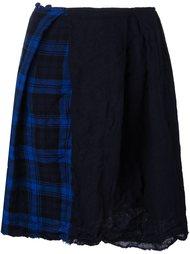 юбка А-образного силуэта в клетку Daniela Gregis