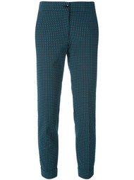 брюки-дудочки с мелким узором Etro