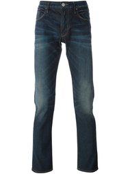 джинсы кроя слим с потертостями Armani Jeans