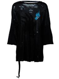 футболка мешковатого кроя с потертой отделкой Unravel