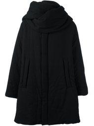 стеганое пальто с воротником-шарфом Yohji Yamamoto