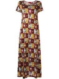 patchwork print t-shirt dress Kenzo Vintage