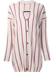 striped V-neck cardigan Uma Wang