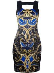 платье с узором  Versace Jeans