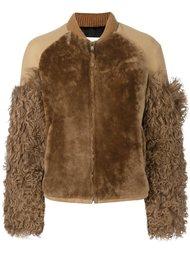 куртка с контрастными рукавами  MSGM