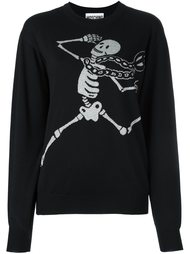 skeleton intarsia jumper Moschino
