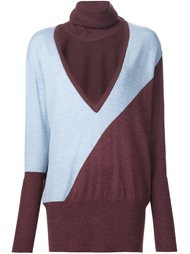 cut-out turtleneck sweater Tome