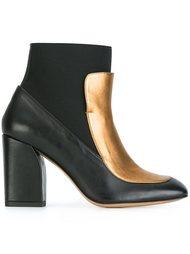 ботинки по щиколотку с панелью металлик Castañer