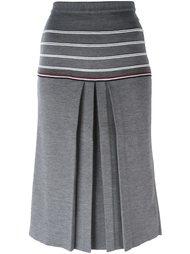 юбка с контрастными полосами Thom Browne
