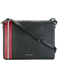 сумка-почтальонка с полосатой отделкой Alexander McQueen